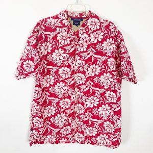 Tommy Jeans Red & White Hawaiian Print Shirt